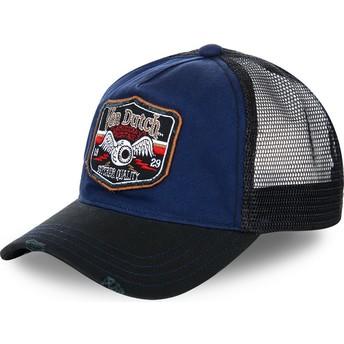 Von Dutch TRUCK03 Blue and Black Trucker Hat