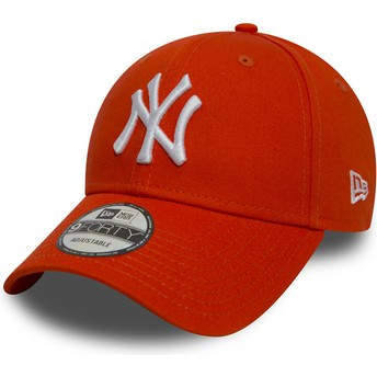 New Era Curved Brim 9FORTY Essential New York Yankees MLB Orange Adjustable Cap