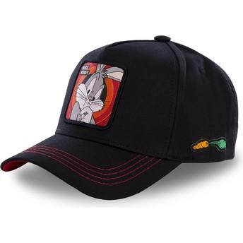 Capslab Curved Brim Bugs Bunny BUG2 Looney Tunes Black Snapback Cap