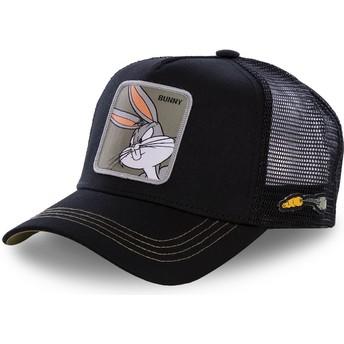 Capslab Bugs Bunny BUN1 Looney Tunes Black Trucker Hat