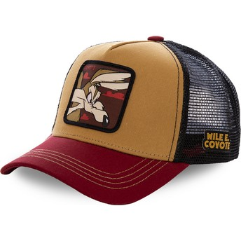 Capslab Wile E. Coyote COY2 Looney Tunes Brown, Red and Black Trucker Hat