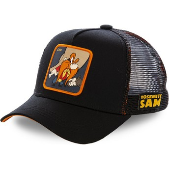 Capslab Yosemite Sam SAM1 Looney Tunes Black Trucker Hat