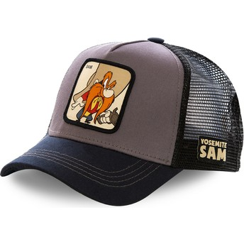 Capslab Yosemite Sam SAM2 Looney Tunes Grey and Black Trucker Hat