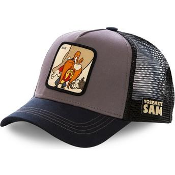 Capslab Yosemite Sam SAM2 Looney Tunes Grey and Black Trucker Hat