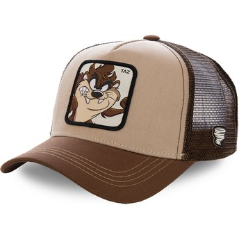 Capslab Tasmanian Devil TAZ2 Looney Tunes Brown Trucker Hat