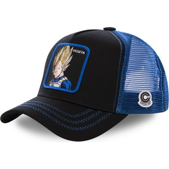 Capslab Vegeta Super Saiyan VE3 Dragon Ball Black and Blue Trucker Hat