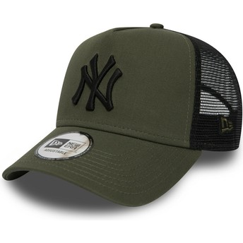 New Era League Essential A Frame de New York Yankees MLB Green Trucker Hat