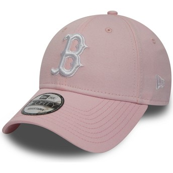 New Era Curved Brim 9FORTY Essential de Boston Red Sox MLB Pink Adjustable Cap