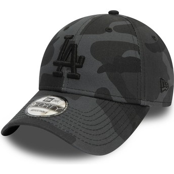 New Era Curved Brim Black Logo 9FORTY Essential de Los Angeles Dodgers MLB Camouflage and Black Adjustable Cap