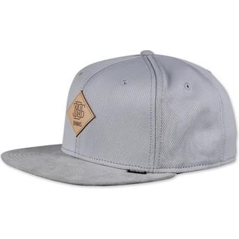 Djinns 6 Panel Dryknit Grey Snapback Cap