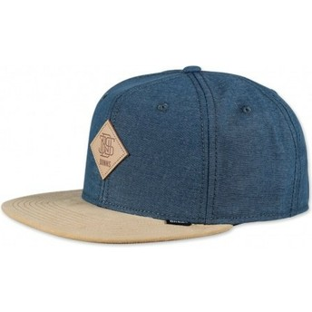 Djinns 6 Panel Melange Twill Blue Snapback Cap