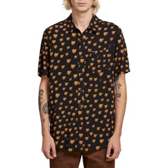 Volcom Black Ozzie Cat Black Short Sleeve Shirt