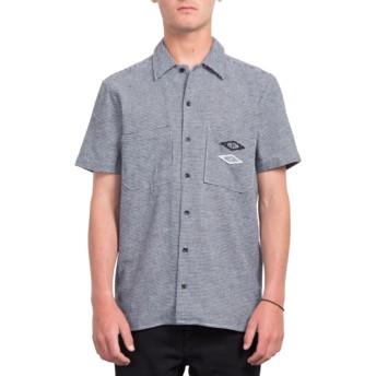 Volcom White V.I. Blue Short Sleeve Shirt