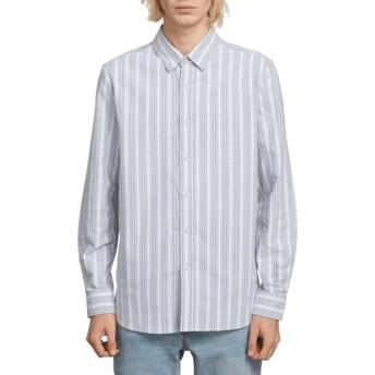 Volcom Wrecked Indigo Vert Toner Blue Long Sleeve Shirt