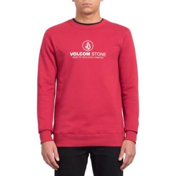Volcom Burgundy Heather General Stone Red Sweatshirt