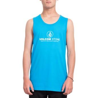 Volcom Cyan Blue Super Clean Blue Sleeveless T-Shirt