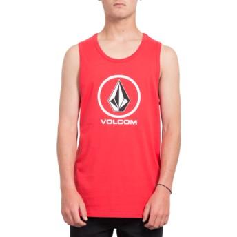 Volcom True Red Crisp Stone Red Sleeveless T-Shirt