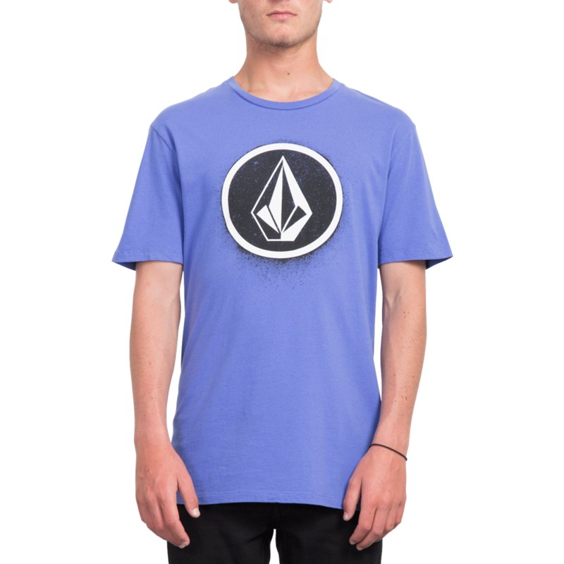 4cce733d Volcom Dark Purple Spray Stone Purple T-Shirt
