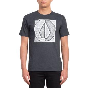 Volcom Heather Black Stamp Divide Black T-Shirt