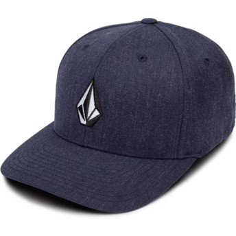Volcom Curved Brim Navy Heather Full Stone Xfit Navy Blue Fitted Cap