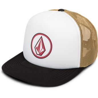 Volcom Camel Full Frontal Cheese White, Brown and Black Trucker Hat