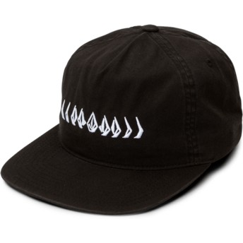 Volcom Flat Brim Black Stone Cycle Black Adjustable Cap