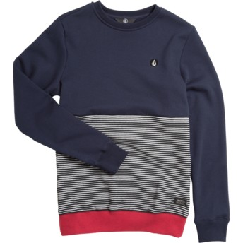 Volcom Youth Navy Forzee Navy Blue, Red and Grey Sweatshirt