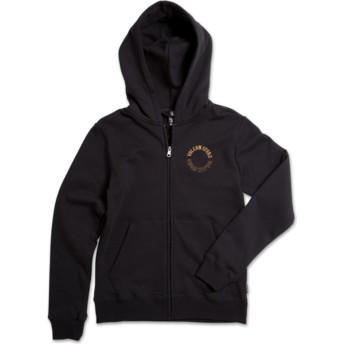 Volcom Youth Black Out Supply Stone Black Zip Through Hoodie Sweatshirt