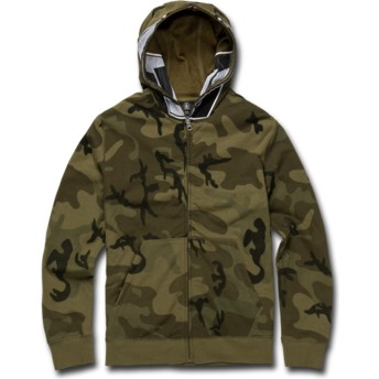 Volcom Youth Camouflage Cool Stone Full Camouflage Zip Through Hoodie Sweatshirt