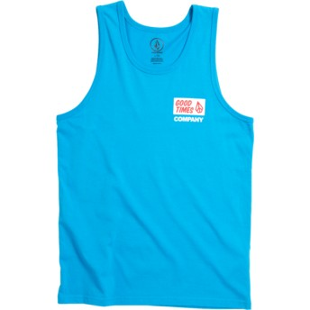 Volcom Youth Cyan Blue Volcom Is Good Blue Tank Top