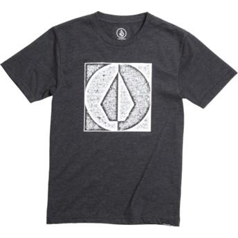 Volcom Youth Heather Black Stamp Divide Black T-Shirt