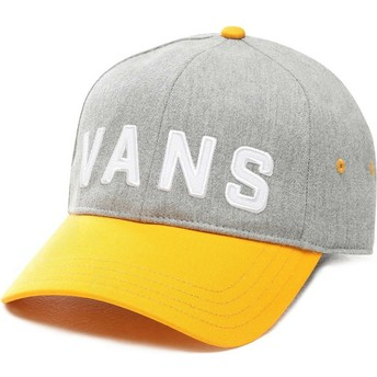 Vans Curved Brim Dugout Grey Adjustable Cap with Yellow Visor