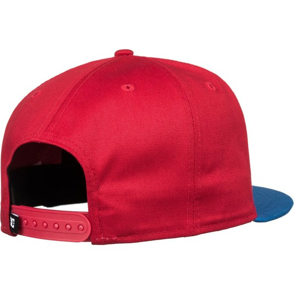 dc-shoes-flat-brim-empire-fielder-red-snapback-cap-with-blue-visor
