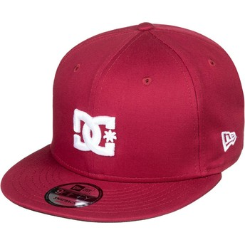 DC Shoes Flat Brim Empire Fielder Maroon Snapback Cap
