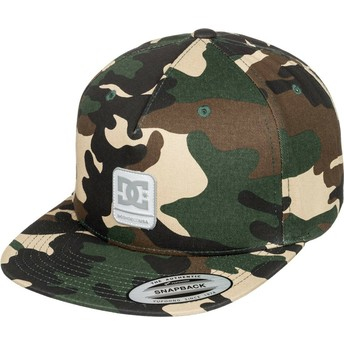DC Shoes Flat Brim Snapdragger Camouflage Snapback Cap