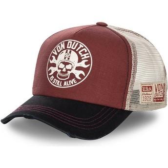 Von Dutch BOR Red, White and Black Trucker Hat