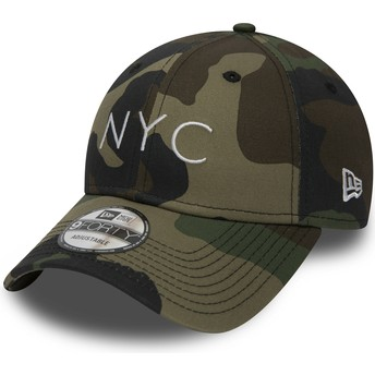 New Era Curved Brim 9FORTY Essential NYC Camouflage Adjustable Cap