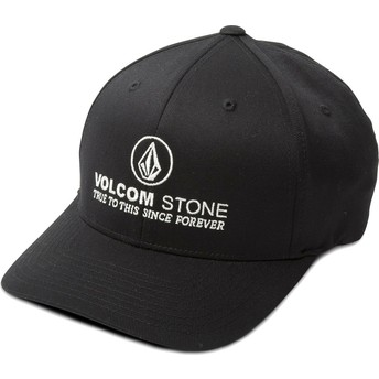 Volcom Curved Brim Super Clean Xfit Black Fitted Cap