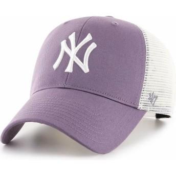 47 Brand MVP Flagship New York Yankees MLB Purple Trucker Hat