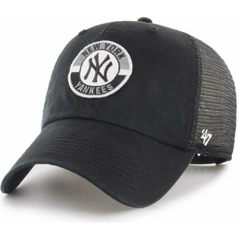 47 Brand Clean Up Porter New York Yankees MLB Black Trucker Hat