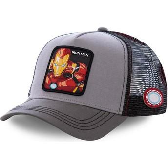 Capslab Iron Man IRO3 Marvel Comics Grey Trucker Hat
