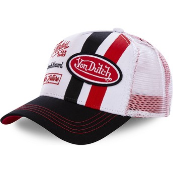 Von Dutch MCQRED White and Red Trucker Hat