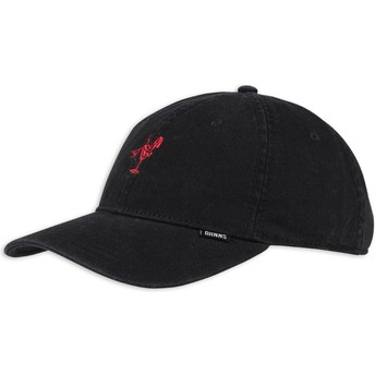 Djinns Curved Brim Washed Girl Black and Red Adjustable Cap