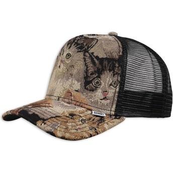 Djinns We Love Ugly Cat2 Multicolor Trucker Hat