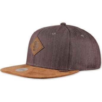 Djinns Flat Brim Linen 2015 Brown Snapback Cap