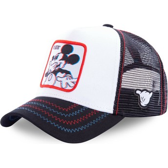 Capslab Mickey Mouse Floatin FLO Disney White Trucker Hat