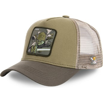 Capslab Yoda YOD Star Wars Green Trucker Hat