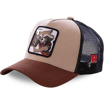 Capslab Rocket Raccoon ROC1 Marvel Comics Brown Trucker Hat