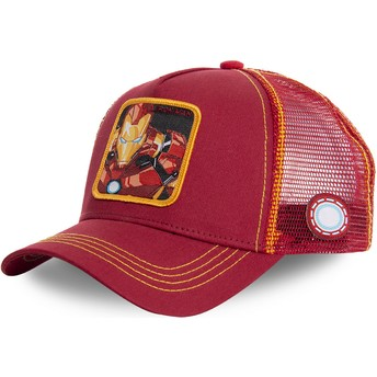 Capslab Iron Man IRO1 Marvel Comics Red and Yellow Trucker Hat