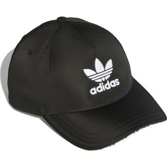Adidas Curved Brim Trefoil Sandwich Black Adjustable Cap